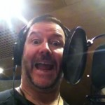 Craig (Doctor) goofing around in the recording studio