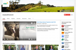 Youtube with posting of April 2016 Sheep Projections