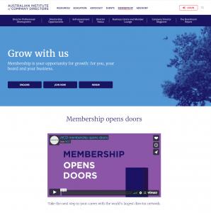 AICD Membership site
